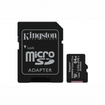 KINGSTON SDCS2/64GB CANVAS SELECT PLUS - GEHEUGEN MICRO SD HC 100MB/S + ADAPTER