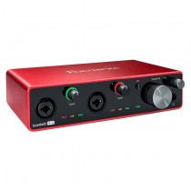 FOCUSRITE SCARLETT 4I4 3RD GEN + 2XLR IN & MIDI IN/OUT