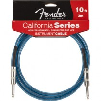 FENDER CALIFORNIA INSTRUMENT CABLE LAKE PLACID BLUE 099-0510-002 - KABEL JACK 6.3 - 3 METER / 10FT LPB