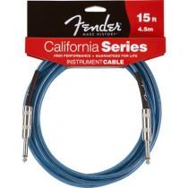 FENDER CALIFORNIA INSTRUMENT CABLE LAKE PLACID BLUE 099-0515-002 - KABEL JACK 6.3 - 4.5 MTR / 15FT LPB
