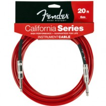 FENDER CALIFORNIA INSTRUMENT CABLE CANDY APPLE RED 099-0520-009 - KABEL JACK 6.3 - 6 METER / 20FT CAR