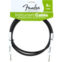 FENDER PERFORMANCE INSTRUMENT CABLE 099-0820-004 - KABEL JACK 6.3 - 1.5 MTR 5FT ZWART