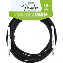 FENDER PERFORMANCE INSTRUMENT CABLE 099-0820-047 - KABEL JACK 6.3 - 4.5 MTR 15FT ZWART