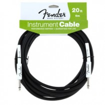 FENDER PERFORMANCE INSTRUMENT CABLE 099-0820-048 - KABEL JACK 6.3 - 6 MTR 20FT ZWART
