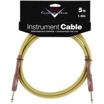 FENDER CUSTOM SHOP PERFORMANCE INSTRUMENT CABLE 099-0820-027 - KABEL JACK 6.3 TWEED 1.5 MTR / 5FT