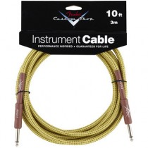 FENDER CUSTOM SHOP PERFORMANCE INSTRUMENT CABLE 099-0820-028 - KABEL JACK 6.3 TWEED 3 MTR / 10FT