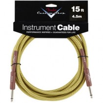 FENDER CUSTOM SHOP PERFORMANCE INSTRUMENT CABLE 099-0820-049 - KABEL JACK 6.3 TWEED 4.5 MTR / 15FT