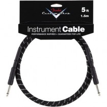 FENDER CUSTOM SHOP PERFORMANCE INSTRUMENT CABLE 099-0820-034 - KABEL JACK 6.3 BLACK TWEED 1.5 MTR