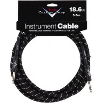 FENDER CUSTOM SHOP PERFORMANCE INSTRUMENT CABLE 099-0820-037 - KABEL JACK 6.3 BLACK TWEED 5.5 MTR