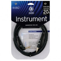 PLANET WAVES PW-GRA-20 CUSTOM SERIES - KABEL JACK-HAAKSE JACK 6.0 METER
