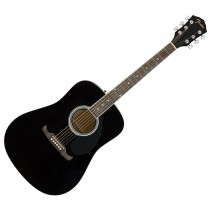 FENDER FA-125 BLACK - GITAAR WESTERN DREADNOUGHT ZWART