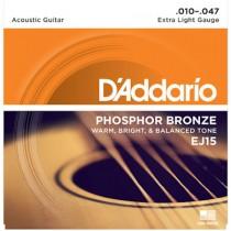 D'ADDARIO EJ15 - SNAREN 010-047 PHOSPHOR BRONZE