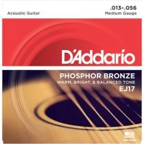 D'ADDARIO EJ17 - SNAREN 013-056 PHOSPHOR BRONZE