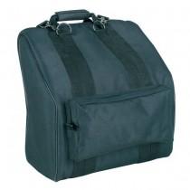 Boston ACB-1041 zwarte accordeon tas met twee rugriemen voor een accordeon met 41 toetsen en 120 bassen.