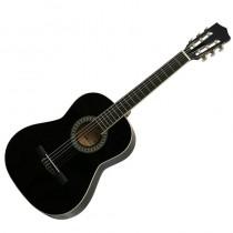 Gomez 036/BK driekwart Spaans / klassieke gitaar met nylon snaren in de kleur Zwart