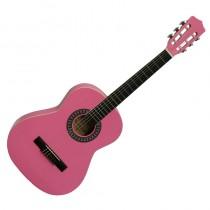 Gomez 036/PK driekwart Spaans / klassieke gitaar met nylon snaren in de kleur Roze