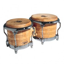 "LATIN PERCUSSION LP201AX-2 NATURAL COMFORT CURVE II RIMS - BONGO HOUT 7-1/4""+8-5/8"" CHROOM HDW"