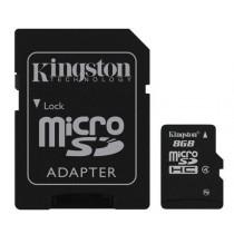KINGSTON SDC4/8GB CLASS 4 - MICRO SDHC MEMORY 8 GB + ADAPTER