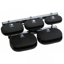 TOCA TCBSET 5-PIECE SET WITH MOUNT - KUNSTSTOF CLAVE BLOCK SET + HOUDER