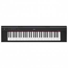 YAMAHA NP-12B PIAGGERO - PIANO PORTABLE ZWART 61 TOETSEN