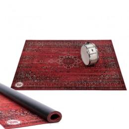 DRUMNBASE VINTAGE PERSIAN DRUMS STAGE RUG RED - DRUMMAT 1.85X1.60 PERZISCH TAPIJT ROOD