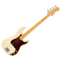 FENDER PRECISION BASS AMERICAN PROFESSIONAL II MN OWT - BASGITAAR OLYMPIC WHITE MAPLE FINGERBOARD