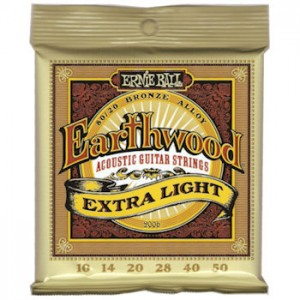 ERNIE BALL 2006 EARTHWOOD EXTRA LIGHT - SNAREN 010-050 80/20 BRONZE