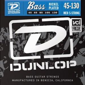DUNLOP DBN45130 5-STRING - SNAREN BASS MEDIUM 45-130